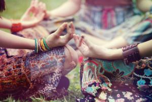Hippie-Meditation